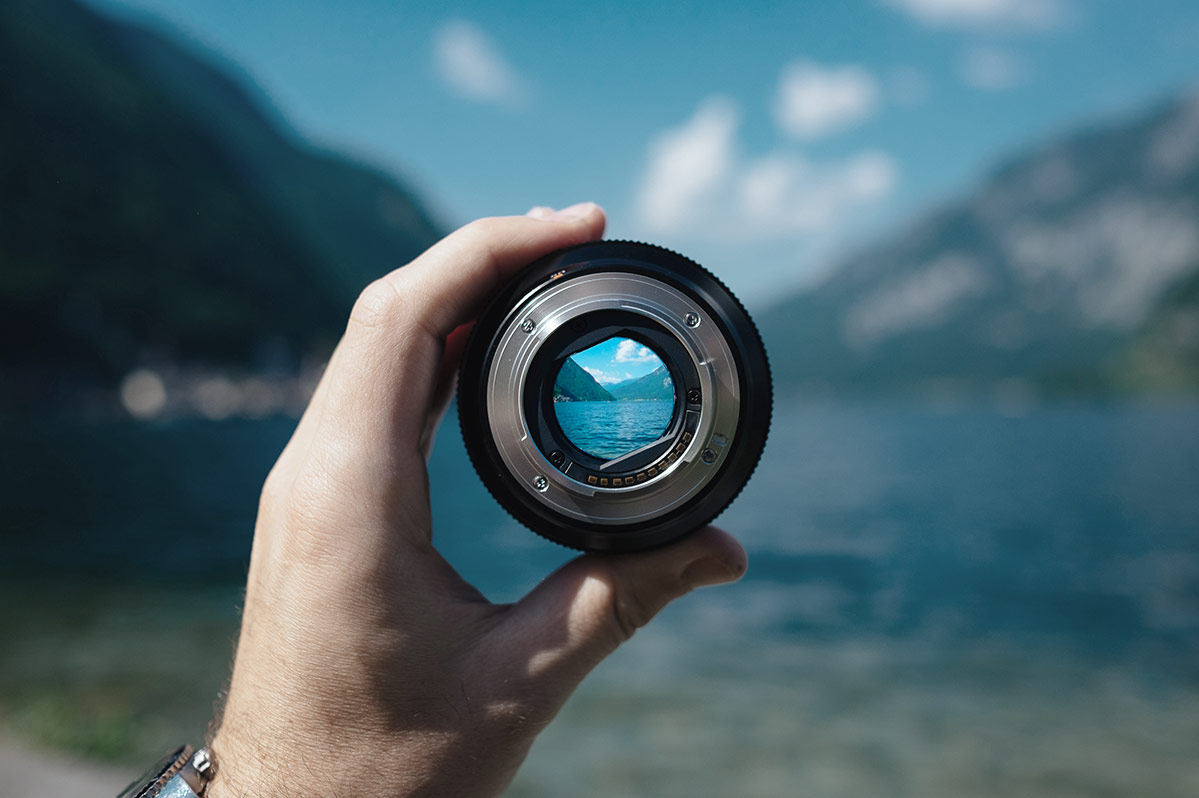 Mountains and water through a lens