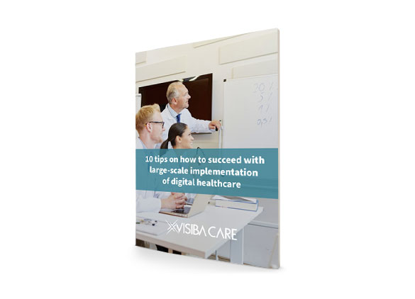 10 tips on how to succeed with large-scale implementation of digital healthcare guide cover