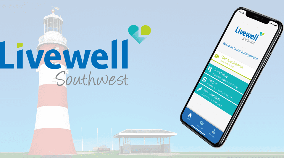 Livewell south west releases virtual clinic app with Visiba Care's software