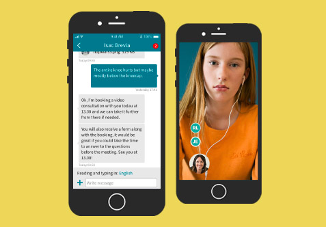Video consultation and messaging in Visiba Care